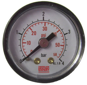 central heating problems - pressure gauge