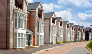 new-build homes in a row