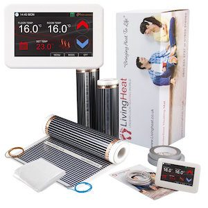 living heat laminate underfloor heating kit