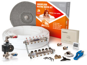 wet underfloor heating kit from prowarm